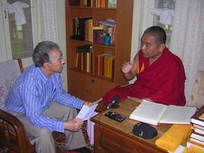 With Serkong Rinpoche's tutor, Geshe Tenzin Zangpo