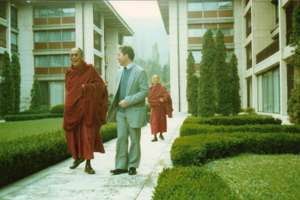 With H.H. the Dalai Lama in the former Soviet Bloc