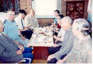 Sharing local hospitality with Dr. Tenzin Choedrak