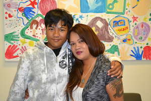 TF Scholar Isaac V. with Mother Cherie