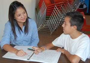 Carla tutoring a student