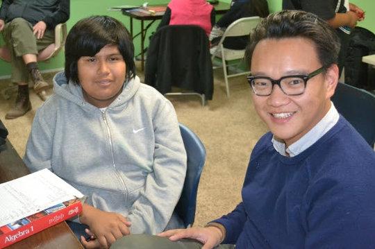 TF Scholar with his tutor