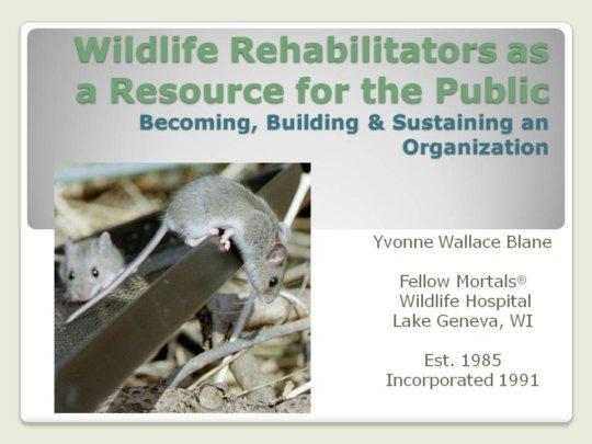 Cover slide of NWRA presentation