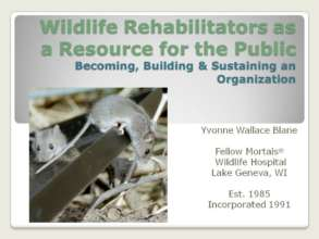 Cover slide of NWRA presentation