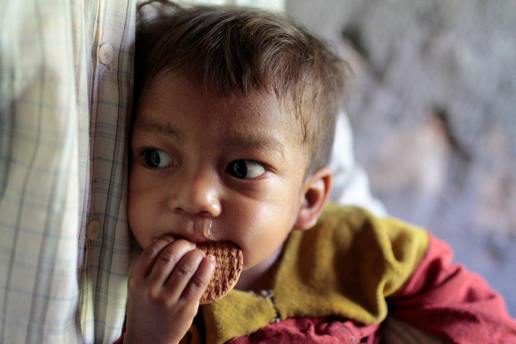 Chepang child at medical camp