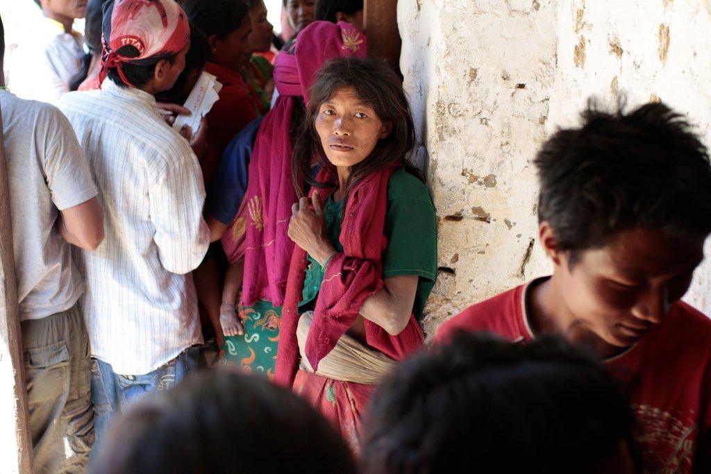 Chepang woman at medical camp