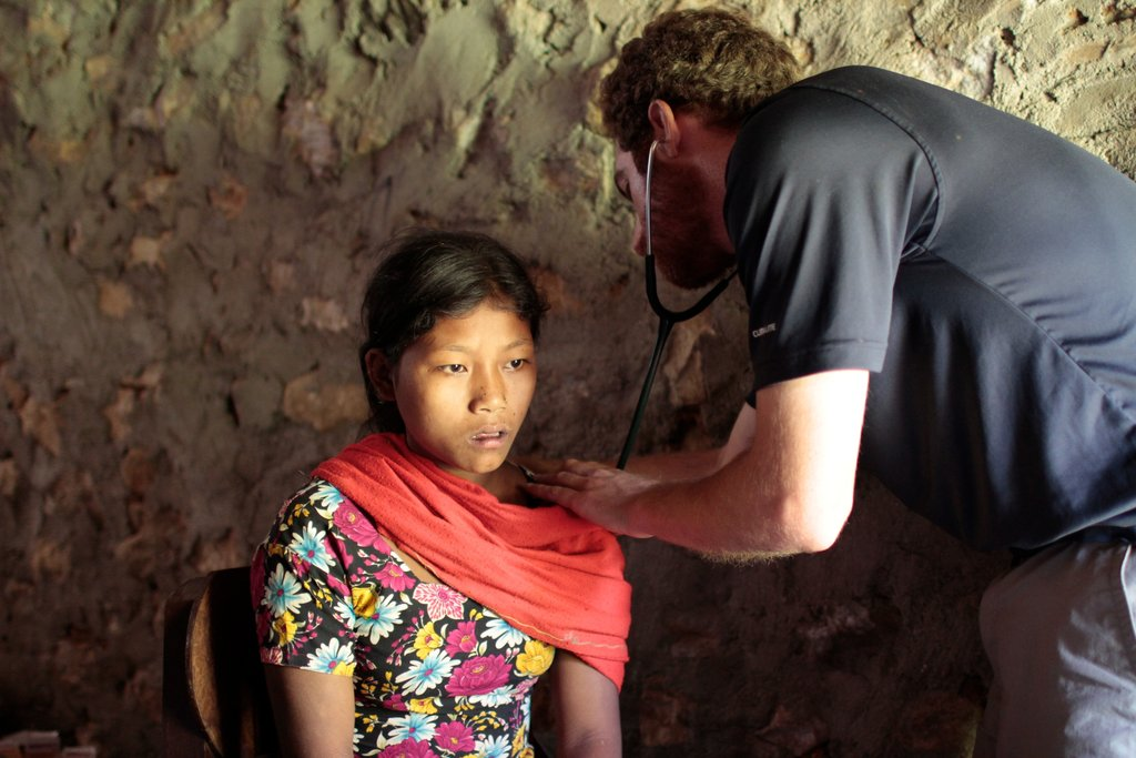 Woman at medical camp