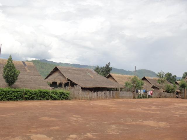 Solar panels on village roofs