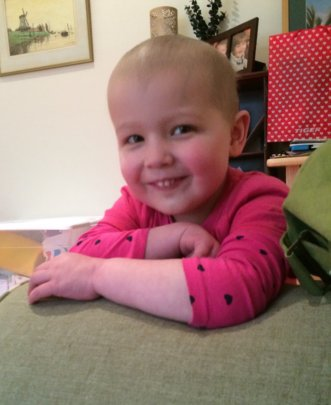 Hadley during treatment