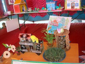 Children's work displayed on Annual Day