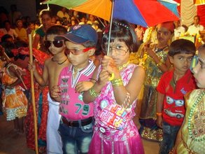 Children performing at another village annual day