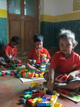 Children using the LEGO bricks to learn