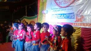 Children presenting at Annual Day