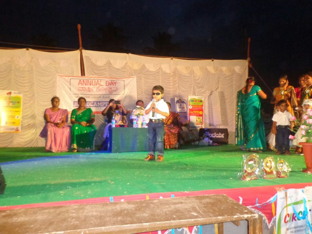 Recital by a student at Annual Day