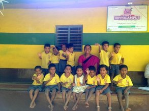 Pavita & Litika with the Kindergarten Class