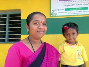 Pavita and Litika @ the G.Bevinahalli HLC Centre
