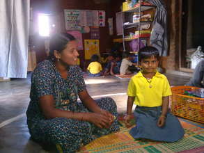 KG Student & Mother talking to the Teacher