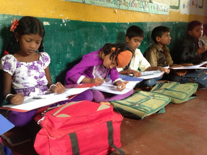 MathSTAR students in the village of Iguru
