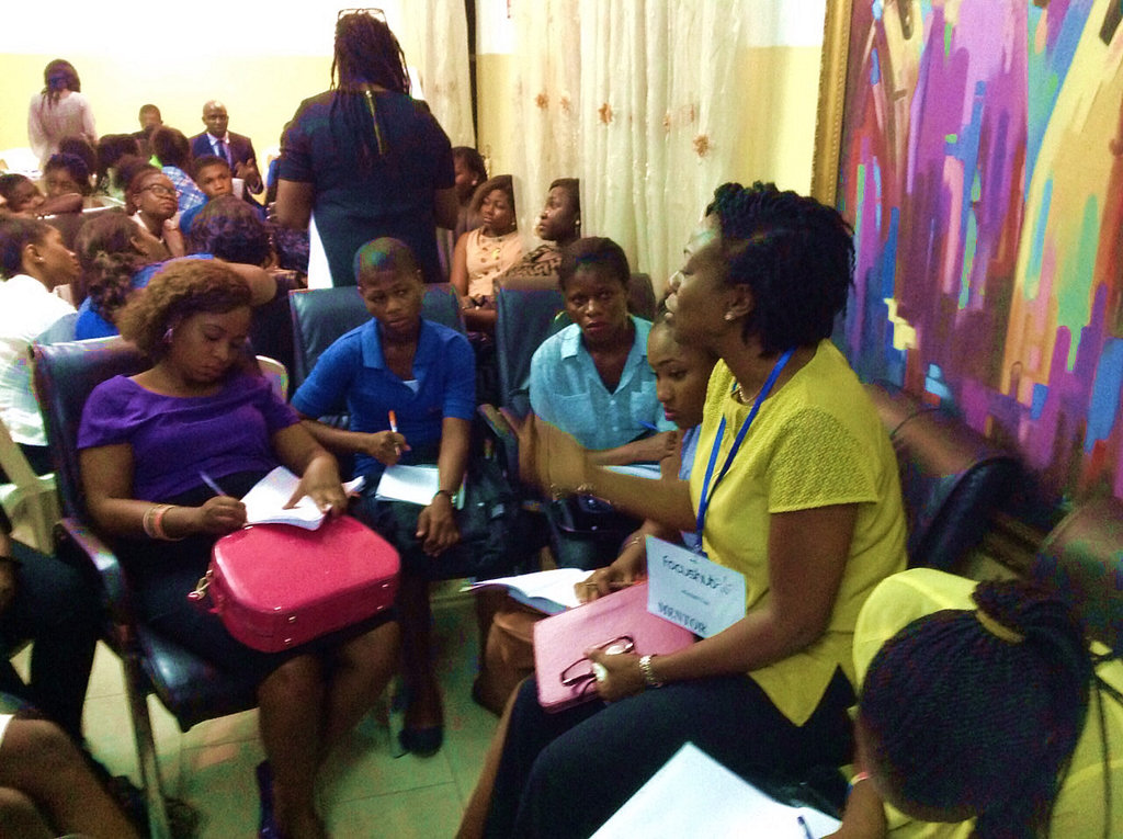 Our Executive Director mentoring girls for success
