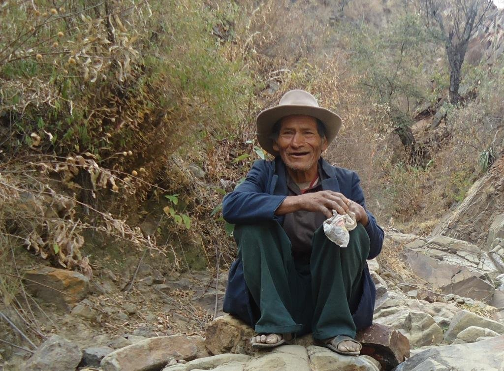 Older Bolivian farmer, HelpAge beneficiary