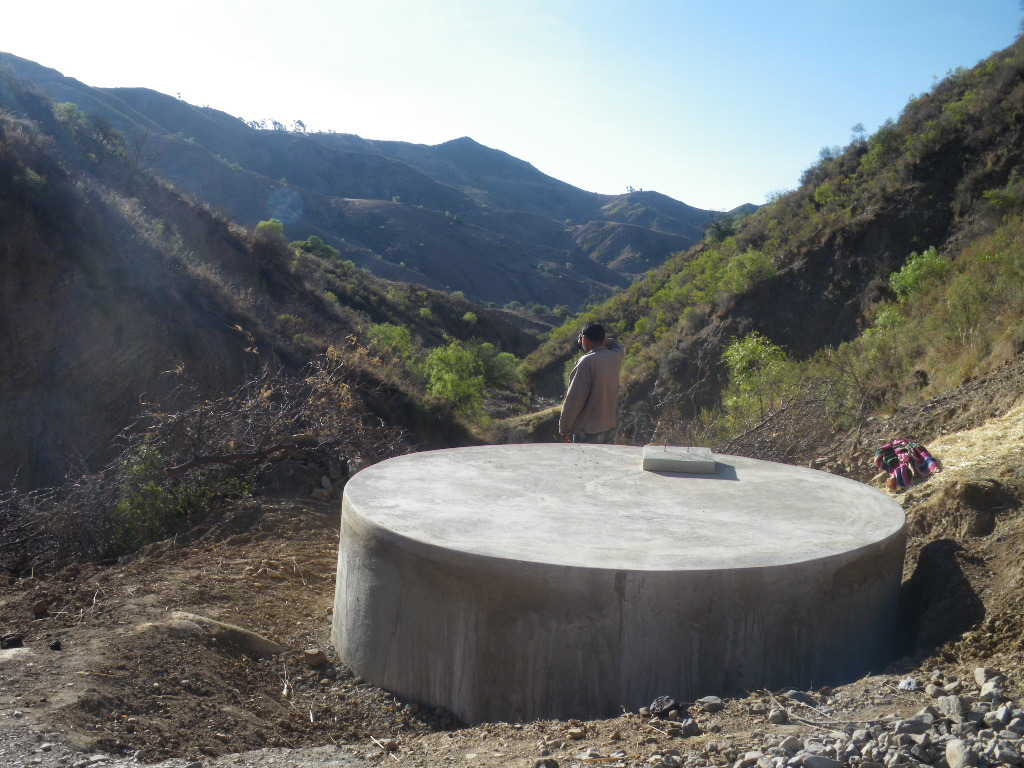 New water tank provided by Global Giving donors!