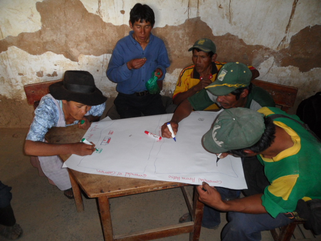 Farmers being trained on water resource management
