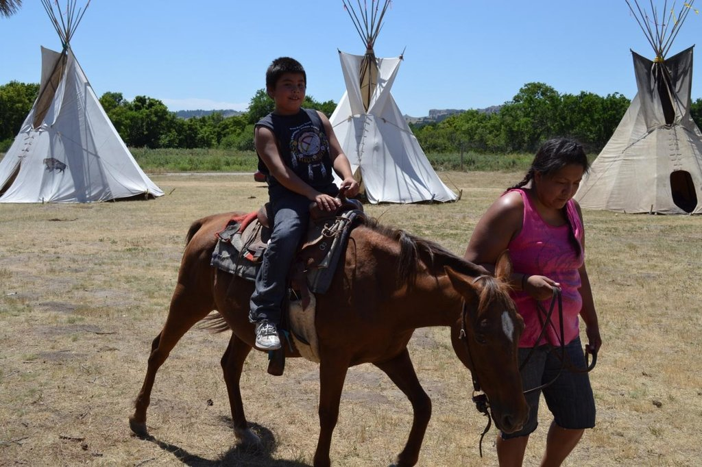 The most natural place for a young Lakota boy