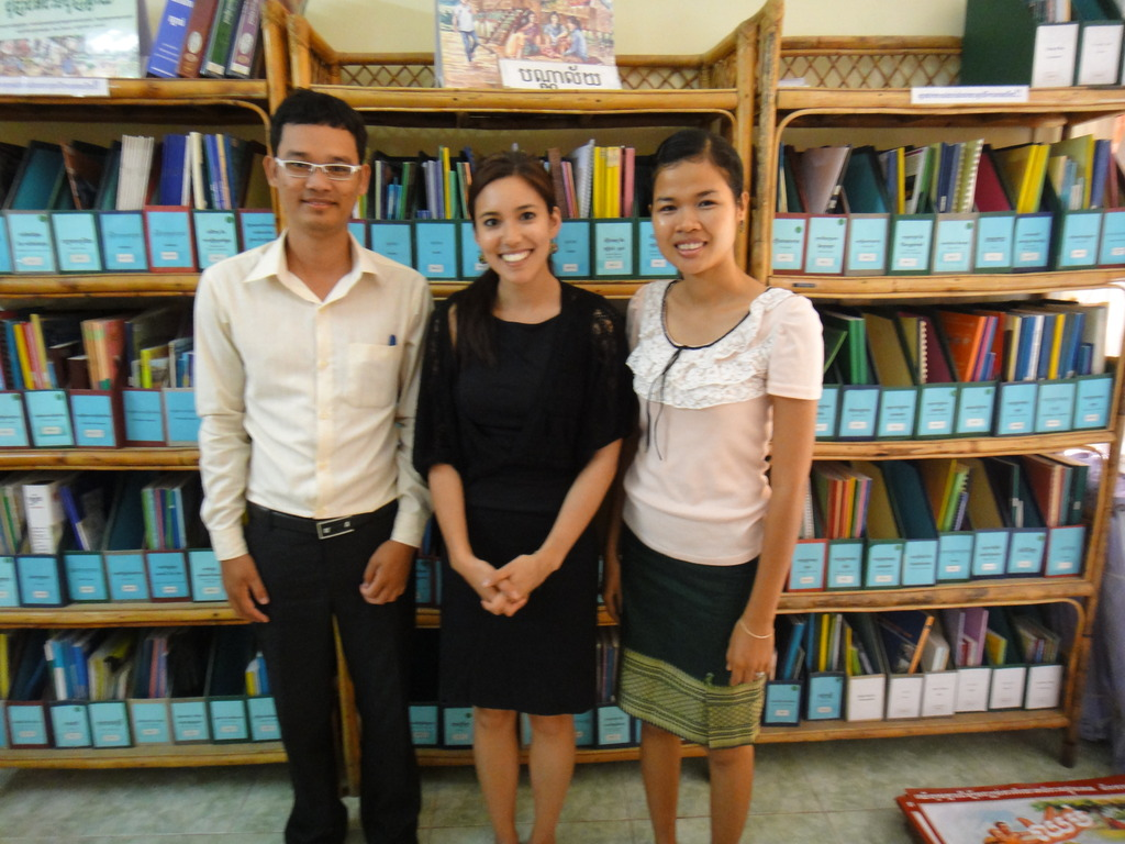 Chab Dai Library with Soparith, me, and Sithy