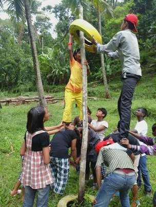 Team Building Activity at the Summer Camp
