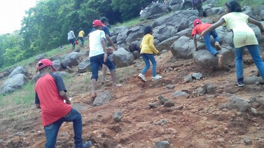 Rock Climbing Activity at the summer camp