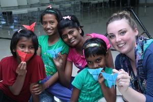 Our International Volunteer with RH children