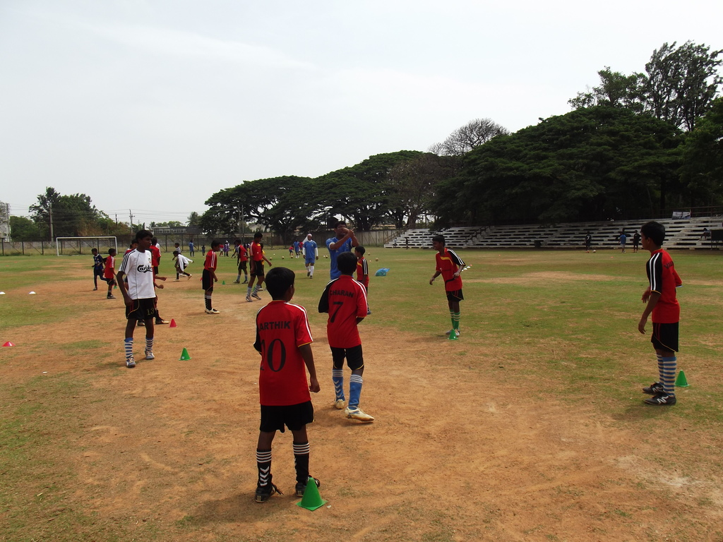 Children are coached by Real Madrid Team in BLR
