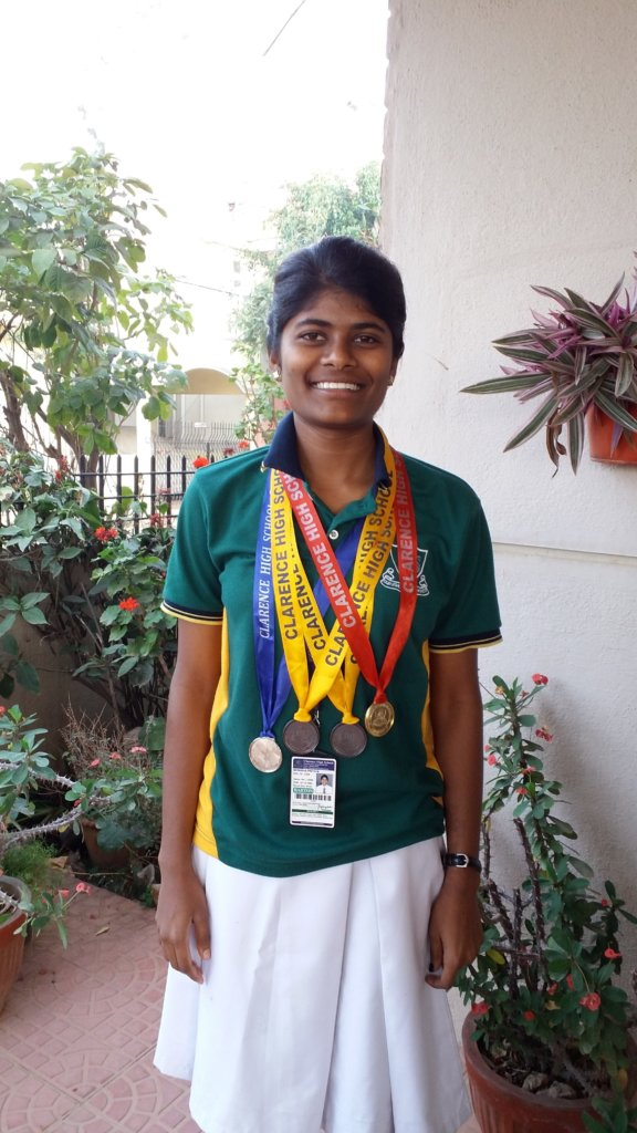 Monisha with her Medals