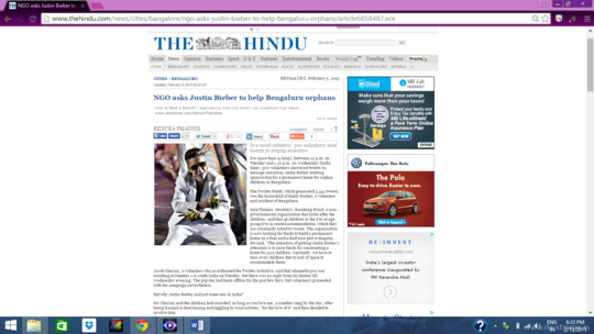 #Homefor500 featured in The Hindu Newspaper