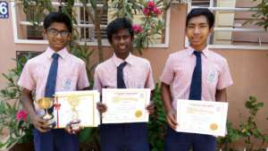 Umesh,Charan and Thomba the prize winners