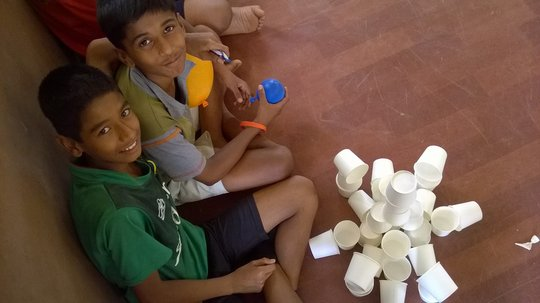 Building made of paper cups by Sigesh