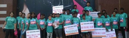 Children all prepared for the TCS Marathon 2015