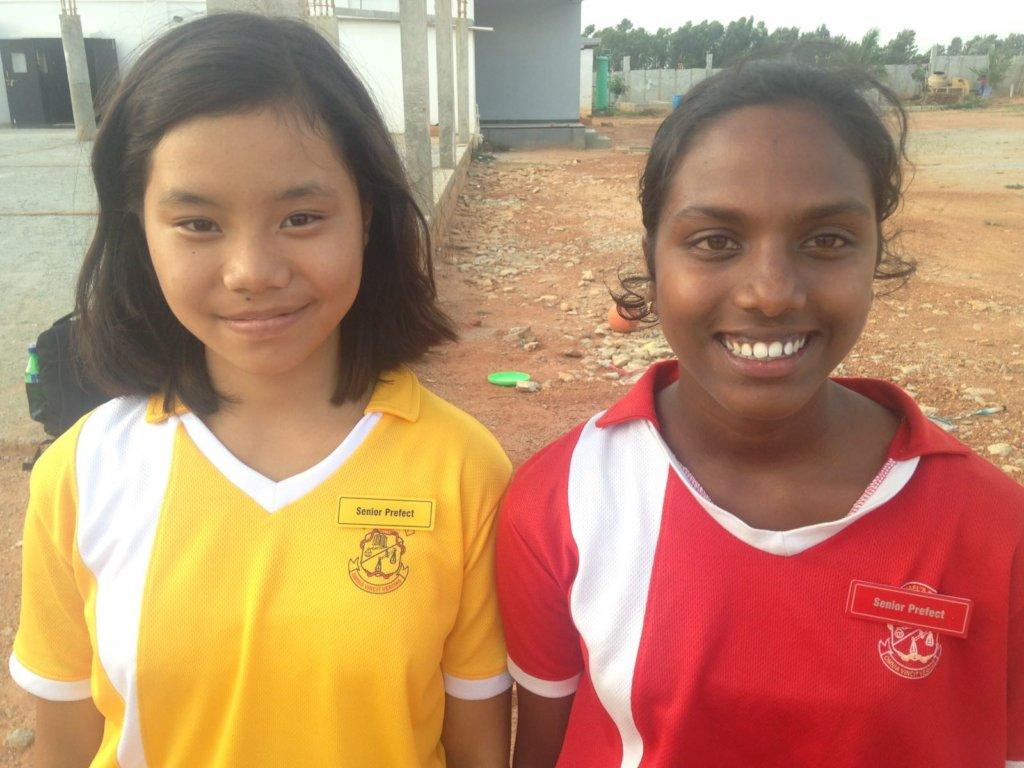 Kateni(Left)- Senior Prefect