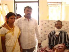 Patient with newly wedded couple (son & wife)