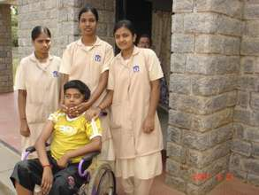 Our nurses with a young patient