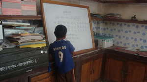 A child at the drop-in centre