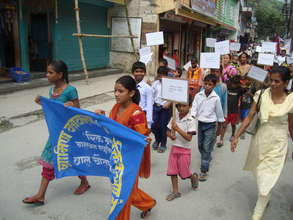Increasing community awareness about child labour