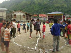 Recreational activities for child labourers