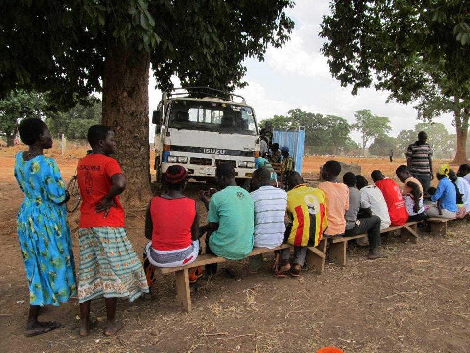 Community members in Amuru at VCT