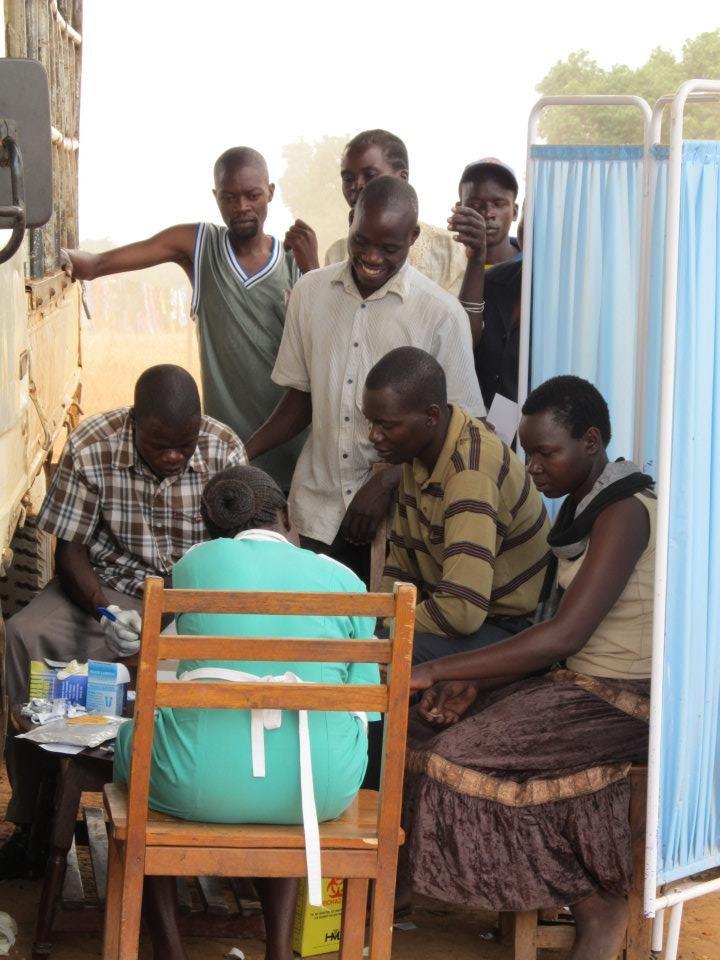 Community members being tested by GWED-G