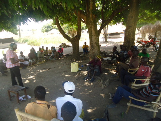 A community sensitization session.