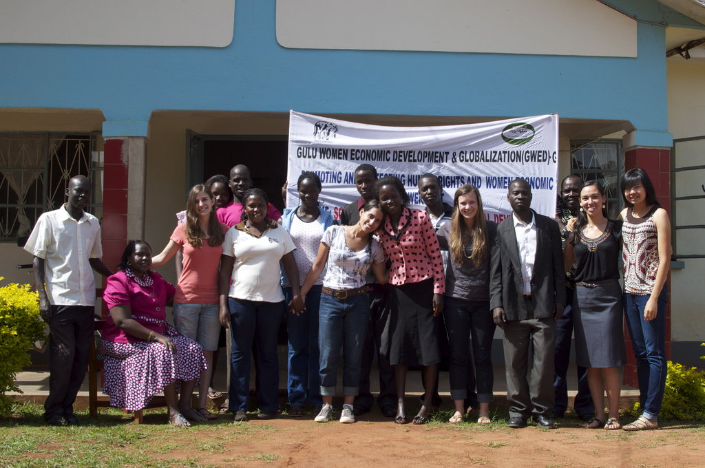 The 2012 GROW team with GWED-G staff at the office