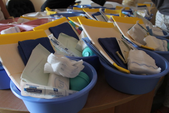 Mama kits donated by Delivering Hope