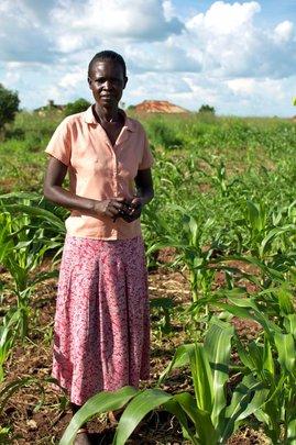 Lucie on her farm