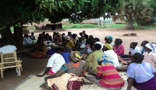 Sensitization session meeting in Oboo Parish